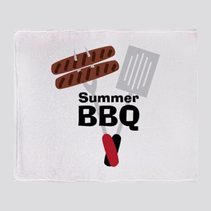Cookout_Summer BBQ Throw Blanket