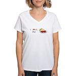 I Love Pie Women's V-Neck T-Shirt