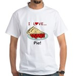 I Love Pie White T-Shirt