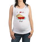 I Love Pie Maternity Tank Top