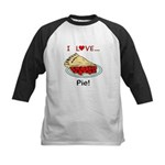 I Love Pie Kids Baseball Jersey
