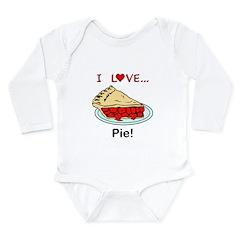 I Love Pie Long Sleeve Infant Bodysuit