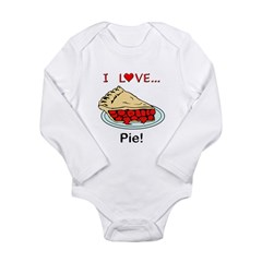 I Love Pie Long Sleeve Infant Bodysuit