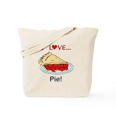 I Love Pie Tote Bag
