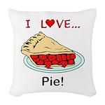 I Love Pie Woven Throw Pillow
