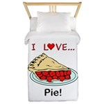 I Love Pie Twin Duvet