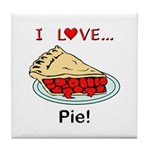 I Love Pie Tile Coaster