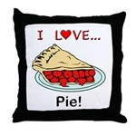 I Love Pie Throw Pillow
