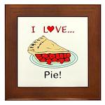 I Love Pie Framed Tile