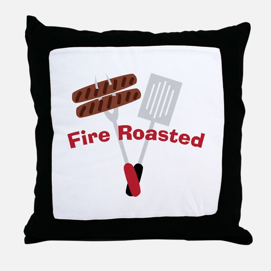 Cookout_Fire Roasted Throw Pillow