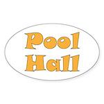 Pool Hall Sticker (Oval 50 pk)