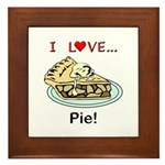 I Love Pie Framed Tile