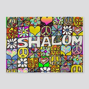 Psychedelic Shalom 5'x7'Area Rug