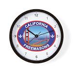 California Freemasons Wall Clock