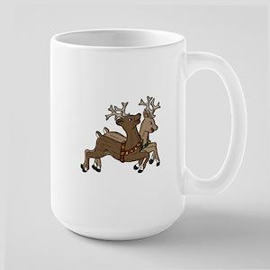 Frolicking Christmas Reindeer Mugs