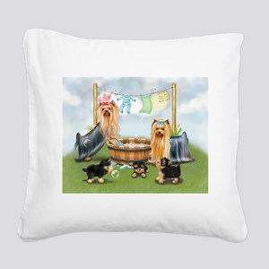 Laundry Day ByCatiaCho Square Canvas Pillow