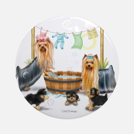 Laundry Day ByCatiaCho Ornament (Round)