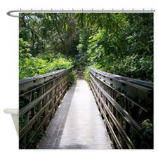 Bridge In The Bamboo Forest Shower Curtain