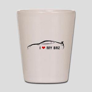I Love My BRZ Shot Glass