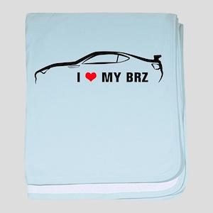 I Love My BRZ baby blanket