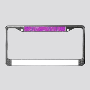 pink circles by designeffects License Plate Frame