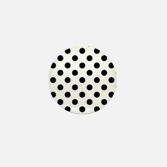 Black and White Polka Dots Mini Button