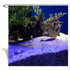 Seahorse Pair Shower Curtain