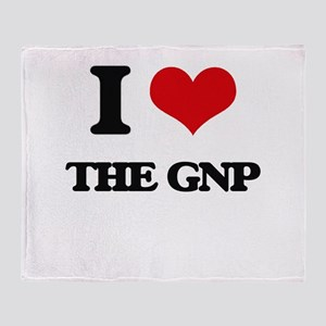 I Love The Gnp Throw Blanket
