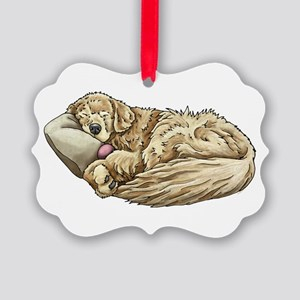 Golden Retriever Sleeping Picture Ornament