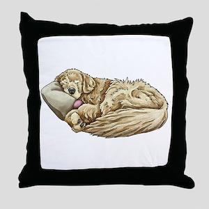 Golden Retriever Sleeping Throw Pillow