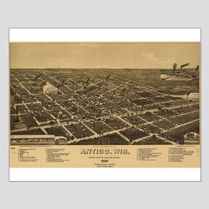 Vintage Map of Antigo, Wis. Small Poster