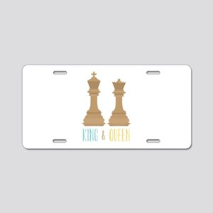 King and Queen Aluminum License Plate
