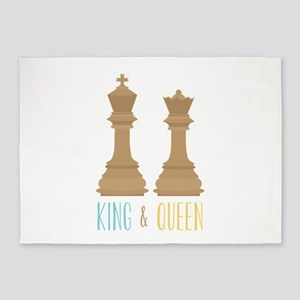 King and Queen 5'x7'Area Rug