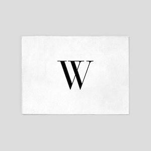 W-bod black 5'x7'Area Rug