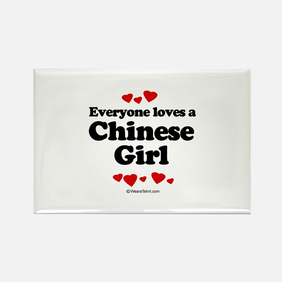 Everyone loves a Chinese girl Rectangle Magnet