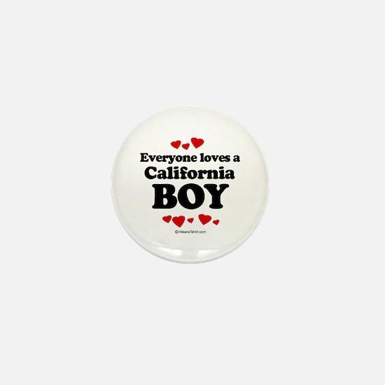 Everyone loves a California boy Mini Button