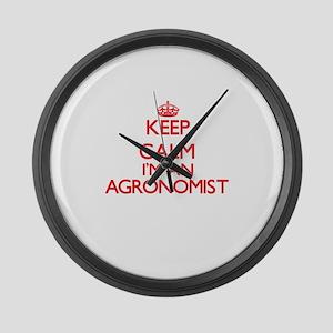 Keep calm I'm an Agronomist Large Wall Clock