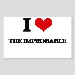 I Love The Improbable Sticker