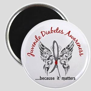 Juvenile Diabetes Butterfly 6.1 Magnet