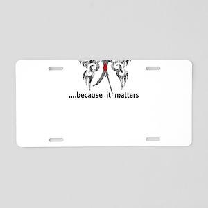 Juvenile Diabetes Butterfly Aluminum License Plate