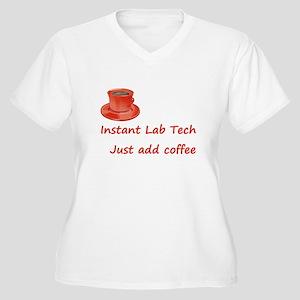 Instant Lab Tech Women's Plus Size V-Neck T-Shirt