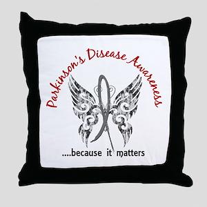 Parkinson's Butterfly 6.1 Throw Pillow