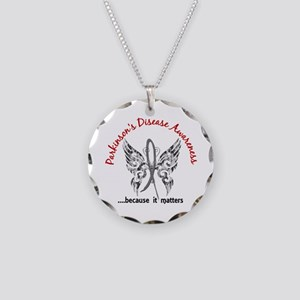 Parkinson's Butterfly 6.1 Necklace Circle Charm