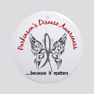 Parkinson's Butterfly 6.1 Ornament (Round)
