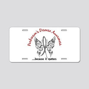 Parkinson's Butterfly 6.1 Aluminum License Plate