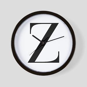 Z-bod black Wall Clock