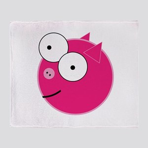 Crazy Pig Throw Blanket