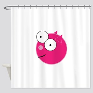Crazy Pig Shower Curtain