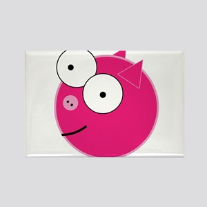 Crazy Pig Rectangle Magnet