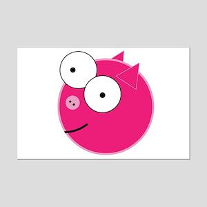 Crazy Pig Mini Poster Print